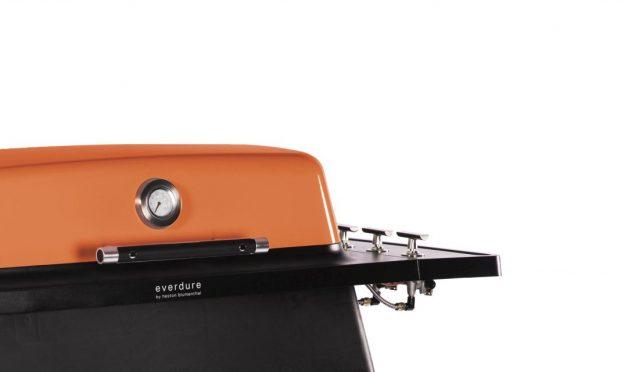 Furnace orange close up angle