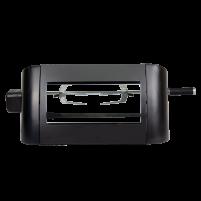 Gas rotisserie kit furnace front on clip lock forks