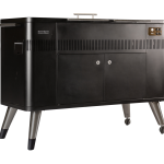 Hub ii left angled weather shield covering grills